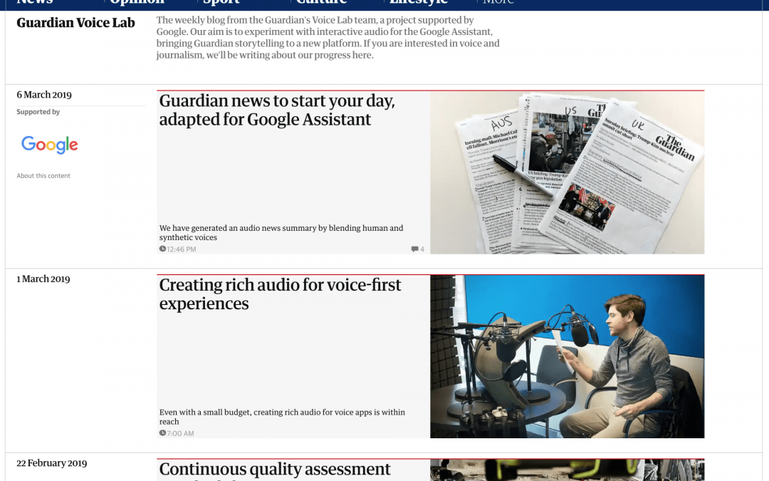 The Guardian Voice Lab – Articles